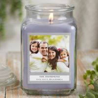 Picture Perfect Personalized Lilac Minuet Candle Jar- Large