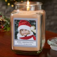 Picture Perfect Holiday Personalized Walnut Coffee Cake Candle Jar- Large