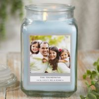 Picture Perfect Personalized Crystal Waters Candle Jar- Large