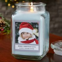 Picture Perfect Holiday Personalized Crystal Waters Candle Jar- Large