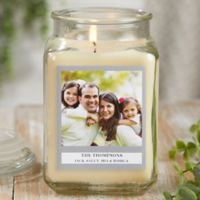 Picture Perfect Personalized Vanilla Bean Candle Jar- Large