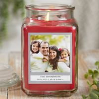 Picture Perfect Personalized Cinnamon Spice Candle Jar- Large