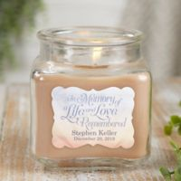 In Memory Personalized Walnut Coffee Cake Candle Jar- Small