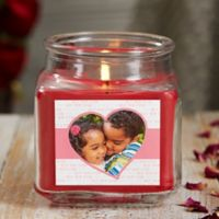 Love You This Much Personalized Cinnamon Spice Photo Candle Jar- Small
