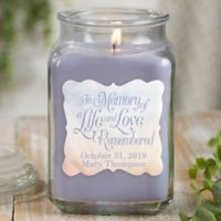 In Memory Personalized Lilac Minuet Candle Jar- Large