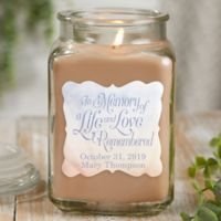 In Memory Personalized Walnut Coffee Cake Candle Jar- Large