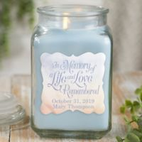 In Memory Personalized Crystal Waters Candle Jar.- Large