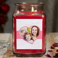 Love You This Much Personalized Cinnamon Spice Photo Candle Jar- Large