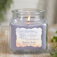 In Memory Personalized Lilac Minuet Candle Jar- Small
