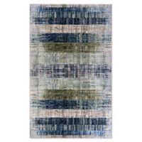 Couristan® Easton Distress Plank 3'11 x 5'3 Area Rug in Moss/Denim
