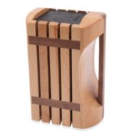 Kapoosh Designer Beachwood Knife Block with Handle