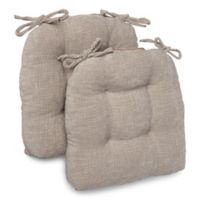Jordan Memory Foam Chair Pads in Taupe (Set of 2)