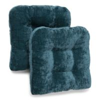 Carmichael Memory Foam Chair Pads in Teal (Set of 2)