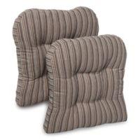 Huntington Memory Foam Chair Pads in Grey (Set of 2)