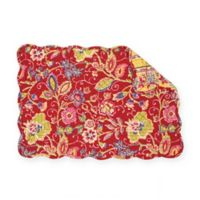C&F Home Estella Placemats in Red (Set of 6)