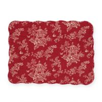 C&F Home Raquel Placemats in Red (Set of 6)