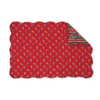 C&F Home Evalynn Placemats in Red (Set of 6)