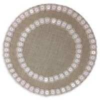 Beaded Jute Round Placemat in Ivory