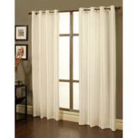 Sherry Kline 84-Inch Faux Silk Grommet Blackout Window Curtain Panels in Ecru (Set of 2)