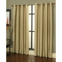 Sherry Kline 84-Inch Faux Silk Grommet Blackout Window Curtain Panels in Taupe (Set of 2)