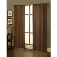 Sherry Kline Faux Silk Grommet Top 84-Inch Window Curtain Panels in Brown (Set of 2)