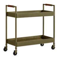 Novogratz Stella Bar Cart with Brass Finish