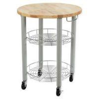 Dorel Living Kylo Round Kitchen Cart in Grey