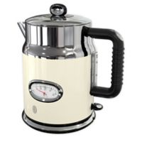 Russell Hobbs Retro Style 1.7-Liter Electric Kettle in Cream/Stainless Steel