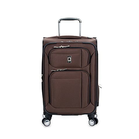 DELSEY Helium Breeze 4.0 20-Inch Carry-On Spinner in Brown