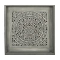 Carved Shadowbox Wall Art in Grey