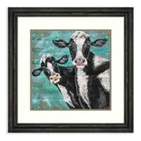 Amanti Art® Molly Susan Strong Animals Cattle 25.38-Inch Square Acrylic Framed Print in Black