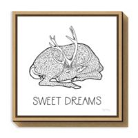 Amanti Art Color the Forest III Sweet Dreams 16-Inch Square Framed Canvas Wall Art