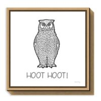 Amanti Art Color the Forest V Hoot Hoot 16-Inch Square Framed Canvas Wall Art