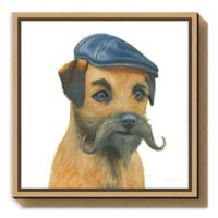 Amanti Art The Boys VII Dog 16-Inch Square Framed Canvas Wall Art
