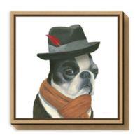 Amanti Art The Boys VIII Dog 16-Inch Square Framed Canvas Wall Art
