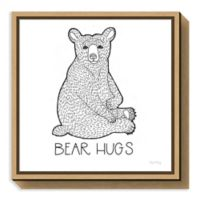 Amanti Art Color the Forest I Bear Hugs 16-Inch Square Framed Canvas Wall Art