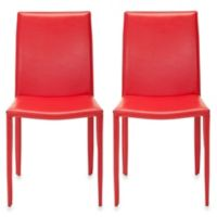 Safavieh Karna Dining Chair (Set of 2) in Red