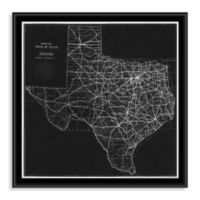 Texas Map Canvas Floater Frame Wall Art