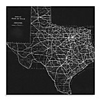 Texas Map II Canvas Wall Art