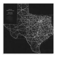 Texas Map II Canvas Wall Art