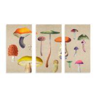 Canvas Mushroom Wall Art Set