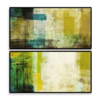 Green Abstract Wall Décor (Set of 2)