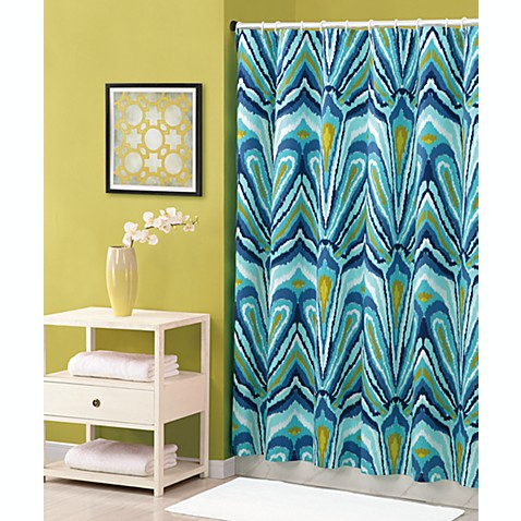 Trina Turk 72 Inch X 72 Inch Shower Curtain In Blue Peacock Bed Bath Beyond