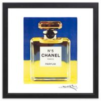"Fairchild Paris ""Sun and Sky"" Chanel No. 5 16-Inch Square Framed Wall Art"