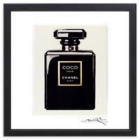 "Fairchild Paris ""Noir"" Chanel Coco Noir 16-Inch Square Framed Wall Art"