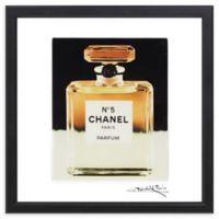 "Fairchild Paris ""Glitzy"" Chanel No. 5 16-Inch Square Framed Wall Art"