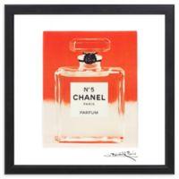 "Fairchild Paris ""Creamsicle"" Chanel No. 5 16-Inch Square Framed Wall Art"