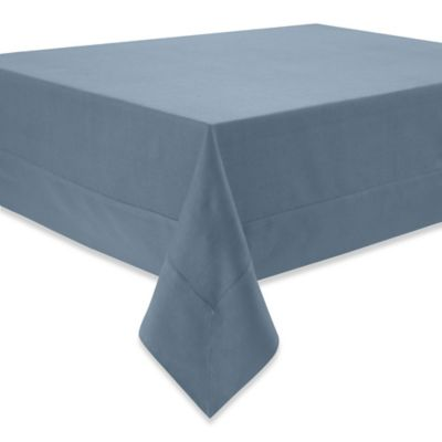 Superb Waterford® Linens Addison 70 Inch X 144 Inch Linen Tablecloth In French Blue