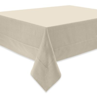 Waterford® Linens Addison 70 Inch X 162 Inch Oblong Linen Tablecloth In  Cream