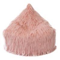 Mimish® Faux Fur Storage Lounger in Dusty Blush